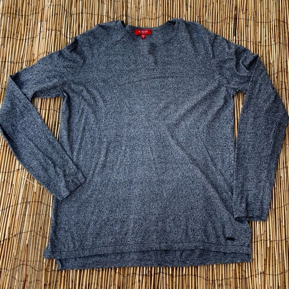 Guess Other - MENS GUESS LONG SLEEVE HEATHER GREY TOP SZ XL